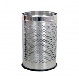 "Stainless Steel Perforated Dustbin - 10"" x 14"""