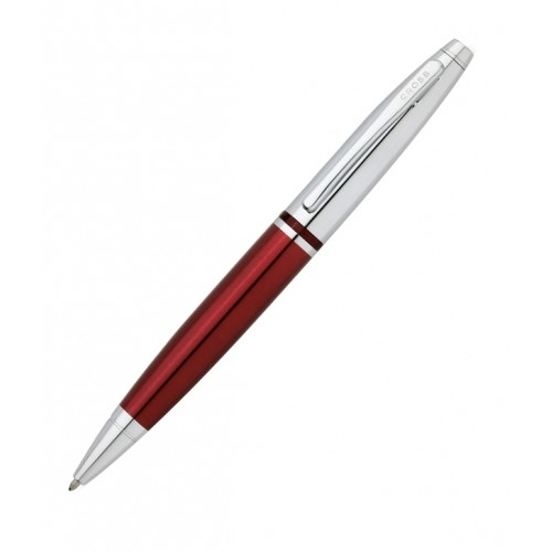 Cross Pen: Calais Chrome & Red Lacquer or Satin Chrome Ball Pen