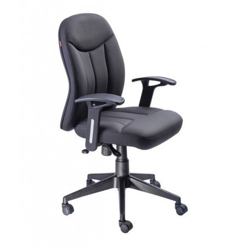 Cosy Seatings High Back Office Chair W/adjustable Handles & Steel Base Black