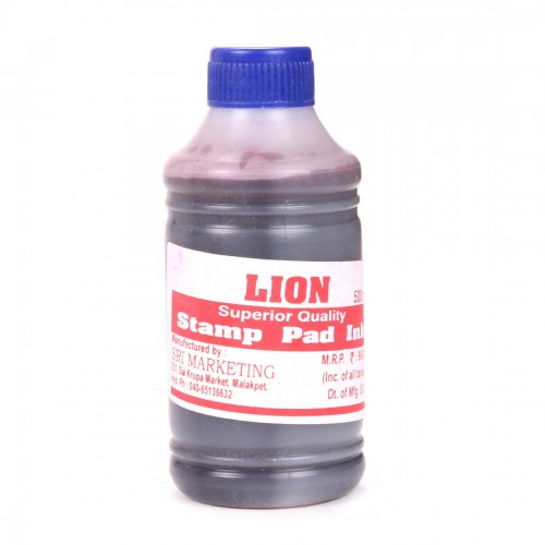 Stamp Pad Ink Bottle - 500ml (RED)