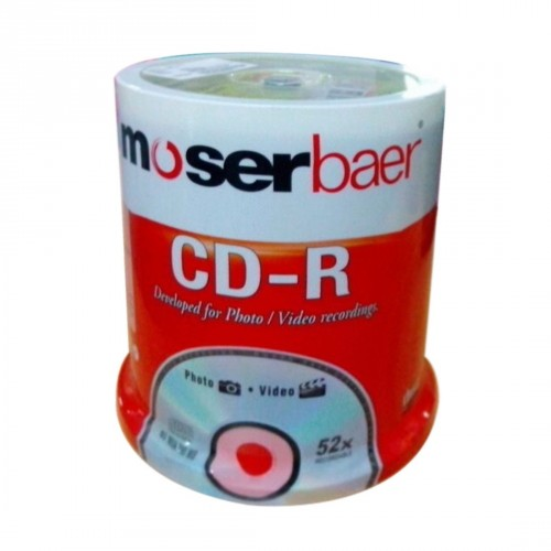 Moser Baer CD-R 100 Pack Cake Box