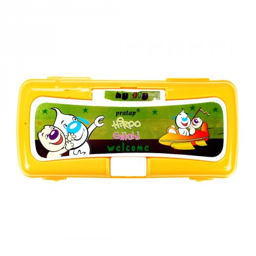 Pratap Pencil Box Hy Fly Assorted Color